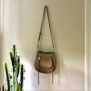 Rebecca Minkoff Vanity Saddle Bag Tan Suede